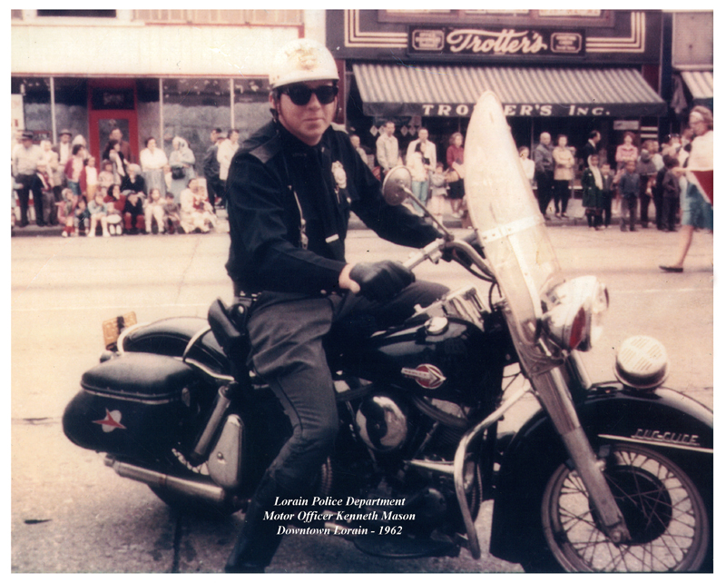Lorain Police Department - Motor Officer Kenneth Mason - 1962|